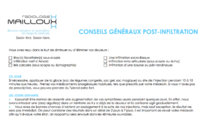 #RadiologieMailloux #conseils #infiltration